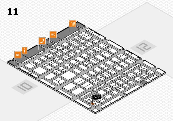 BEAUTY DÜSSELDORF 2018 hall map (Hall 11): stand A72