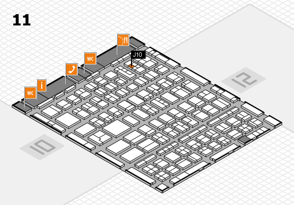 BEAUTY DÜSSELDORF 2018 hall map (Hall 11): stand J10