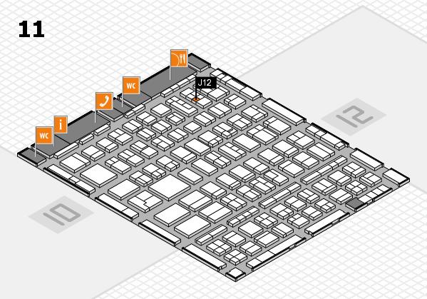 BEAUTY DÜSSELDORF 2018 hall map (Hall 11): stand J12