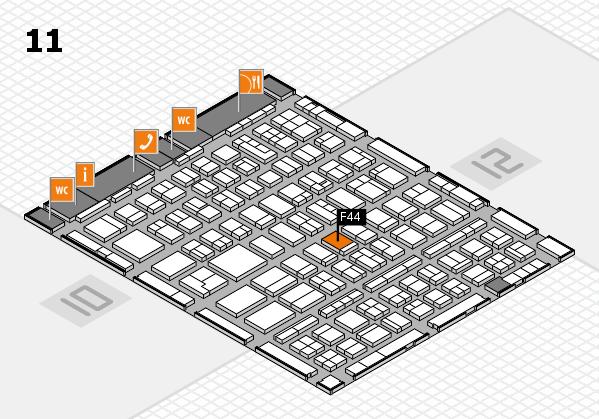 BEAUTY DÜSSELDORF 2018 hall map (Hall 11): stand F44