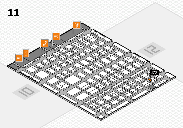 BEAUTY DÜSSELDORF 2018 hall map (Hall 11): stand J72