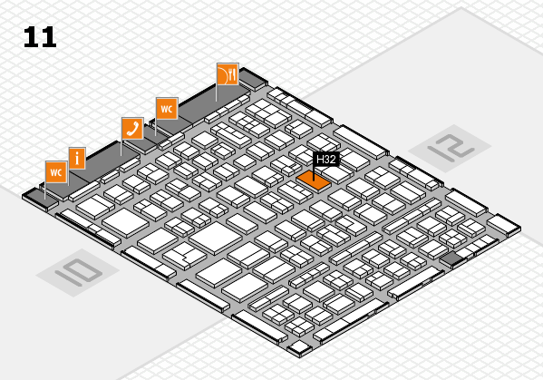 BEAUTY DÜSSELDORF 2018 hall map (Hall 11): stand H32