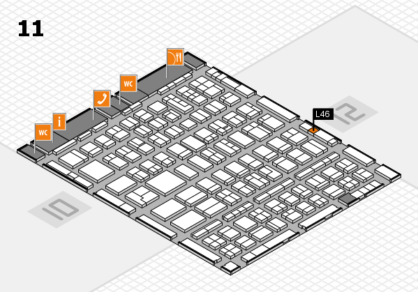 BEAUTY DÜSSELDORF 2018 hall map (Hall 11): stand L46