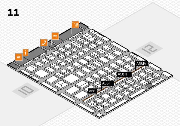 BEAUTY DÜSSELDORF 2018 hall map (Hall 11): stand A58