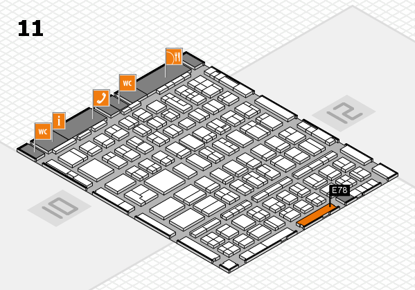 BEAUTY DÜSSELDORF 2018 hall map (Hall 11): stand E78