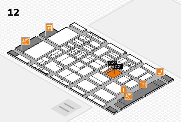 BEAUTY DÜSSELDORF 2018 hall map (Hall 12): stand C21, stand C27