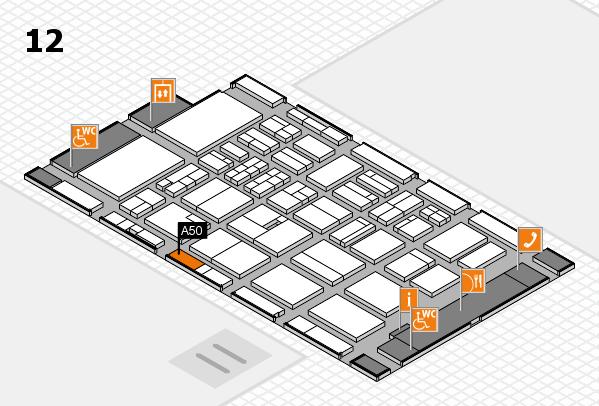 BEAUTY DÜSSELDORF 2018 hall map (Hall 12): stand A50