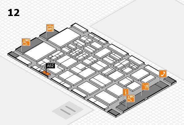 BEAUTY DÜSSELDORF 2018 hall map (Hall 12): stand A52