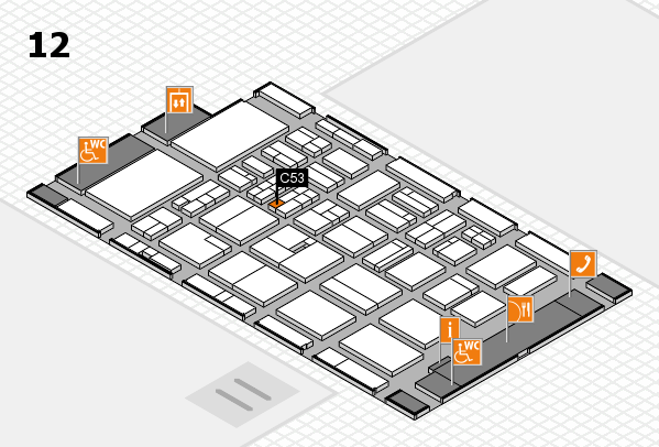 BEAUTY DÜSSELDORF 2018 hall map (Hall 12): stand C53