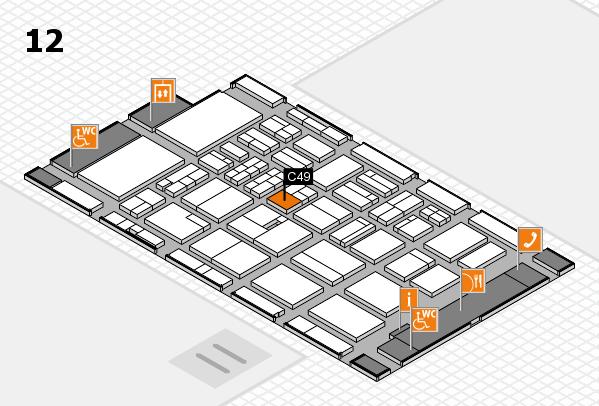 BEAUTY DÜSSELDORF 2018 hall map (Hall 12): stand C49