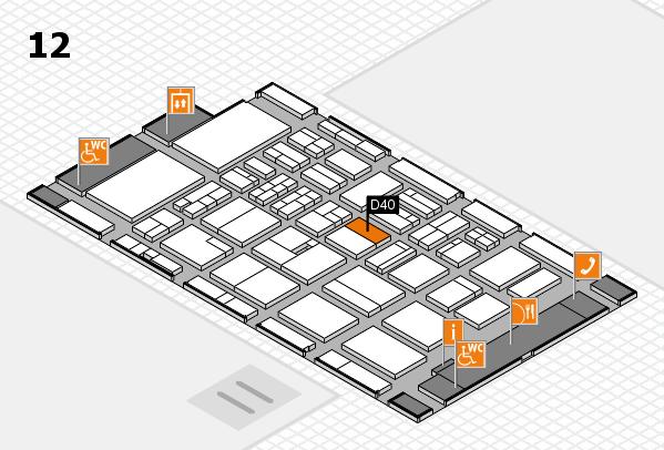 BEAUTY DÜSSELDORF 2018 hall map (Hall 12): stand D40