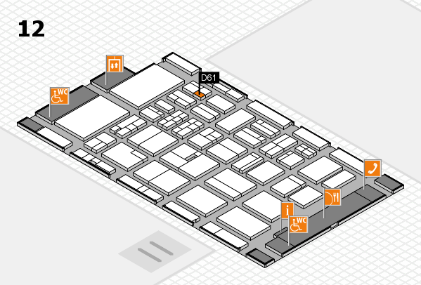 BEAUTY DÜSSELDORF 2018 hall map (Hall 12): stand D61