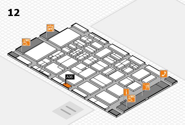 BEAUTY DÜSSELDORF 2018 Hallenplan (Halle 12): Stand A36