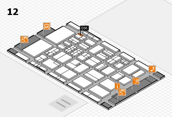 BEAUTY DÜSSELDORF 2018 hall map (Hall 12): stand E66