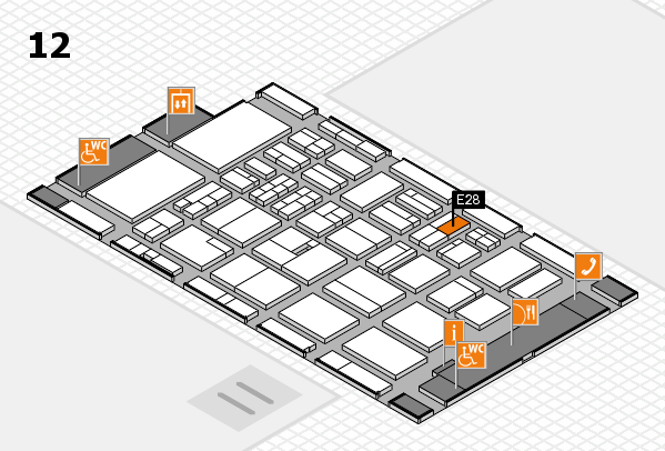 BEAUTY DÜSSELDORF 2018 hall map (Hall 12): stand E28