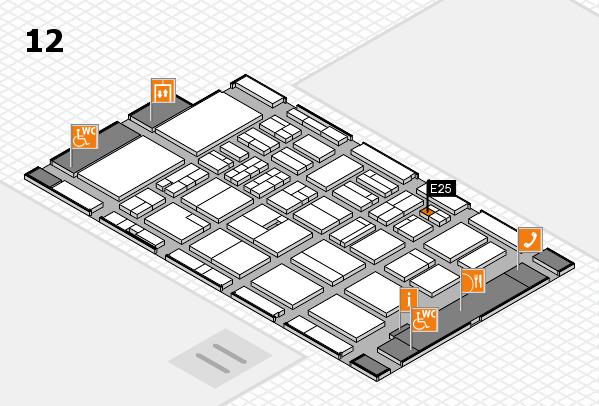 BEAUTY DÜSSELDORF 2018 hall map (Hall 12): stand E25