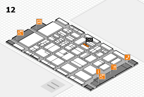 BEAUTY DÜSSELDORF 2018 hall map (Hall 12): stand D42