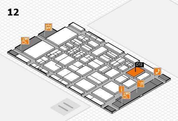 BEAUTY DÜSSELDORF 2018 Hallenplan (Halle 12): Stand D13