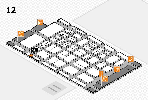 BEAUTY DÜSSELDORF 2018 hall map (Hall 12): stand A64