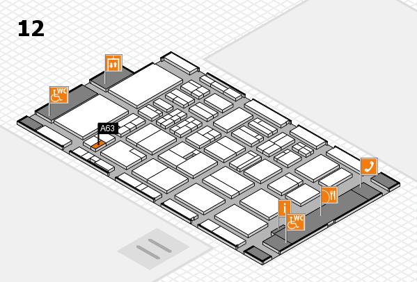 BEAUTY DÜSSELDORF 2018 hall map (Hall 12): stand A63