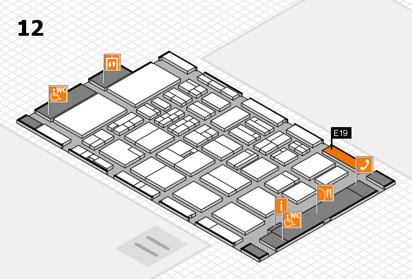 BEAUTY DÜSSELDORF 2018 hall map (Hall 12): stand E19