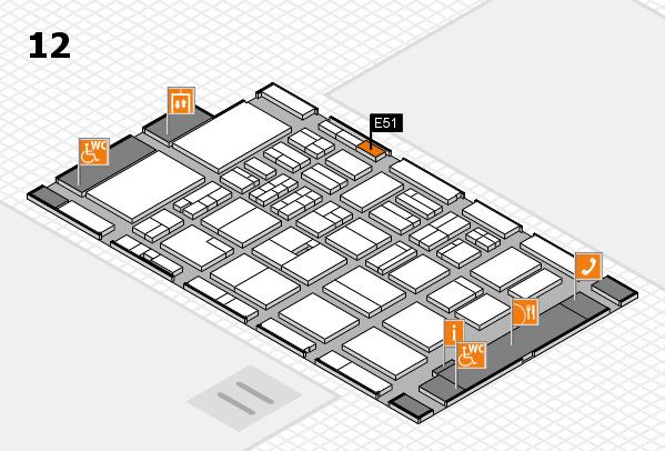 BEAUTY DÜSSELDORF 2018 hall map (Hall 12): stand E51