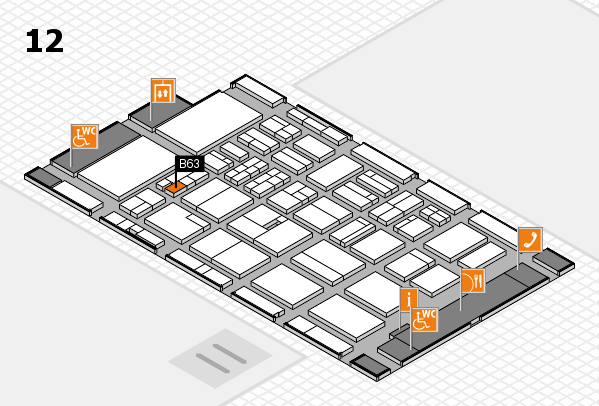 BEAUTY DÜSSELDORF 2018 hall map (Hall 12): stand B63