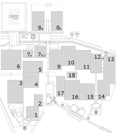 BEAUTY DÜSSELDORF 2017 fairground map: Open Area