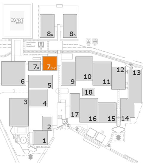 BEAUTY DÜSSELDORF 2017 fairground map: Hall 7