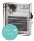 BDC Silk Lashes B- Curl 0,20 - 17mm mini tray
