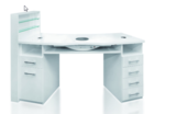 FULL-BODIED cosmetic table with side shelf for cosmetic products – SK06