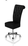 Chair on castoring wheels