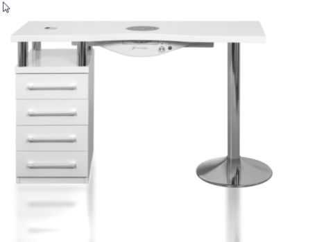 Cosmetic table WITH ONE CABINET AND CHROME-PLATED STAINLESS STEEL LEG – SK04