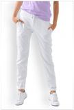 Chino Hose für Damen Weiß