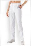Damen-Hose Weiß Teilgummibund