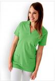 Damen-Longshirt V-Ausschnitt Apfelgrün